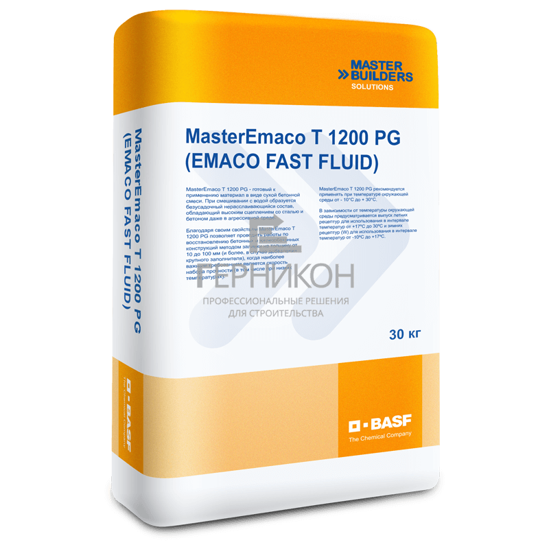 masteremaco t 1200 pg (emaco fast fluid) 30 кг